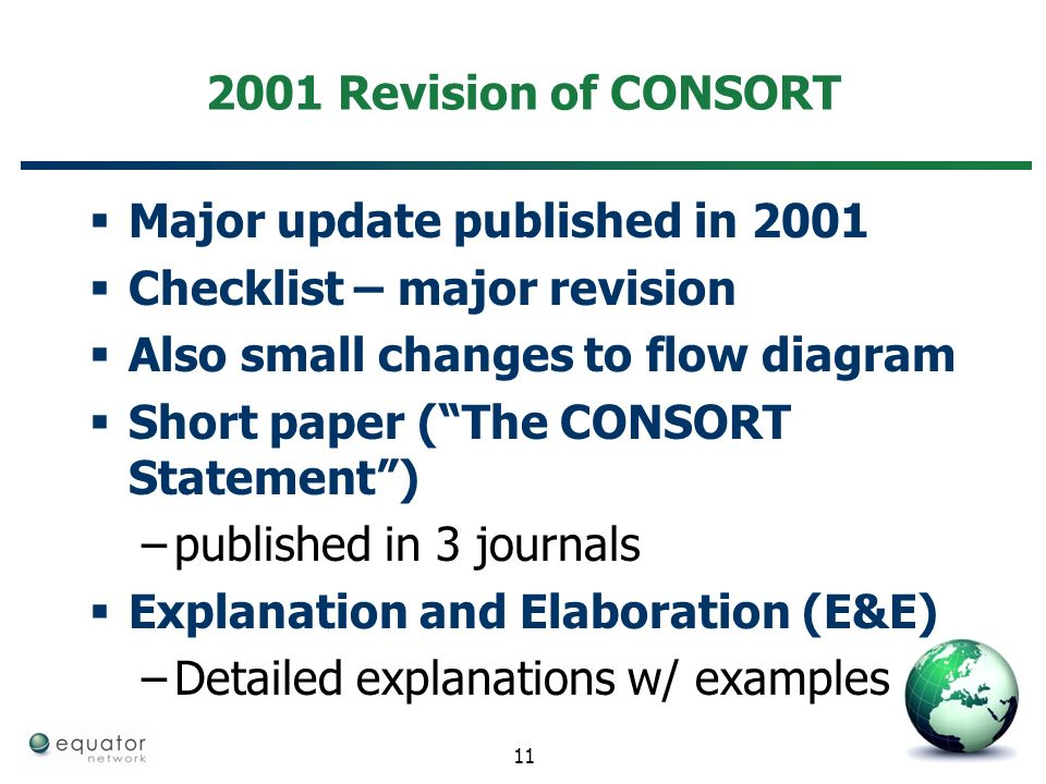 Key Reporting Guidelines In Detail And Practical Exercises Consort