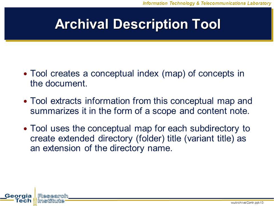 WuArchivalContr ppt-1 Information Technology