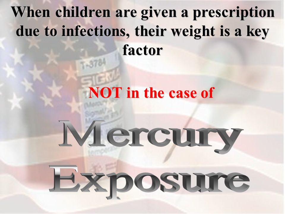 When children are given a prescription due to infections, their weight is a key factor NOT in the case of