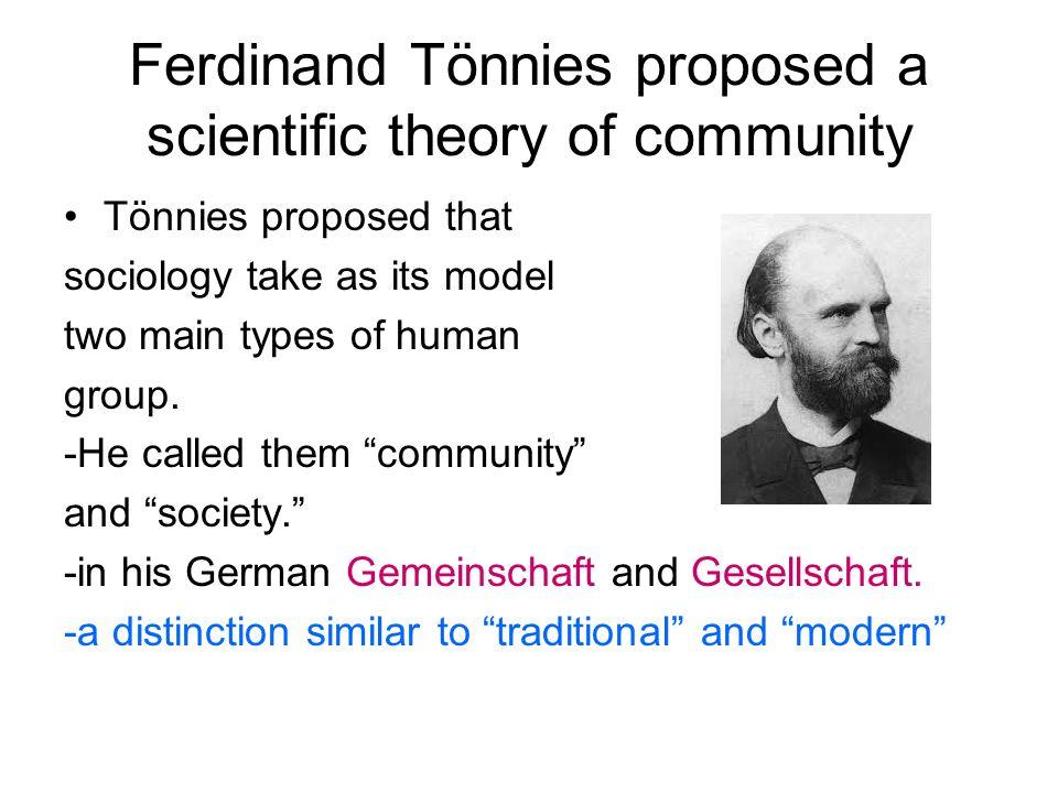 ferdinand tonnies sociology