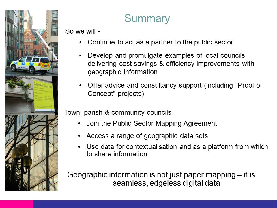 The Public Sector Mapping Agreement Using Geography To Underpin The