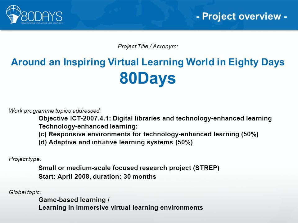 Project Title / Acronym: Around an Inspiring Virtual