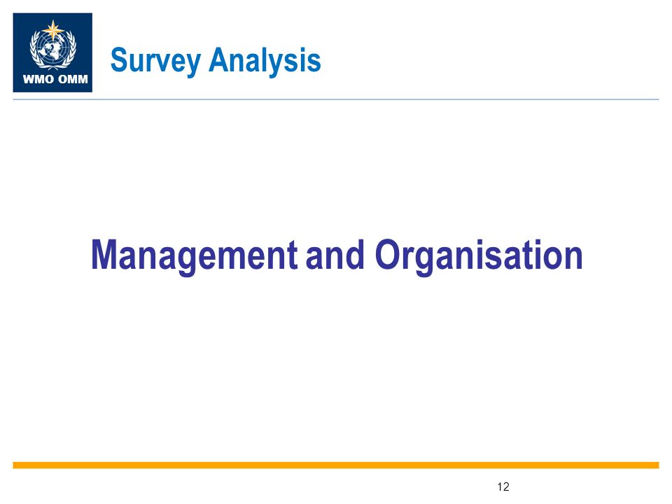 WMO OMM 12 Management and Organisation Survey Analysis