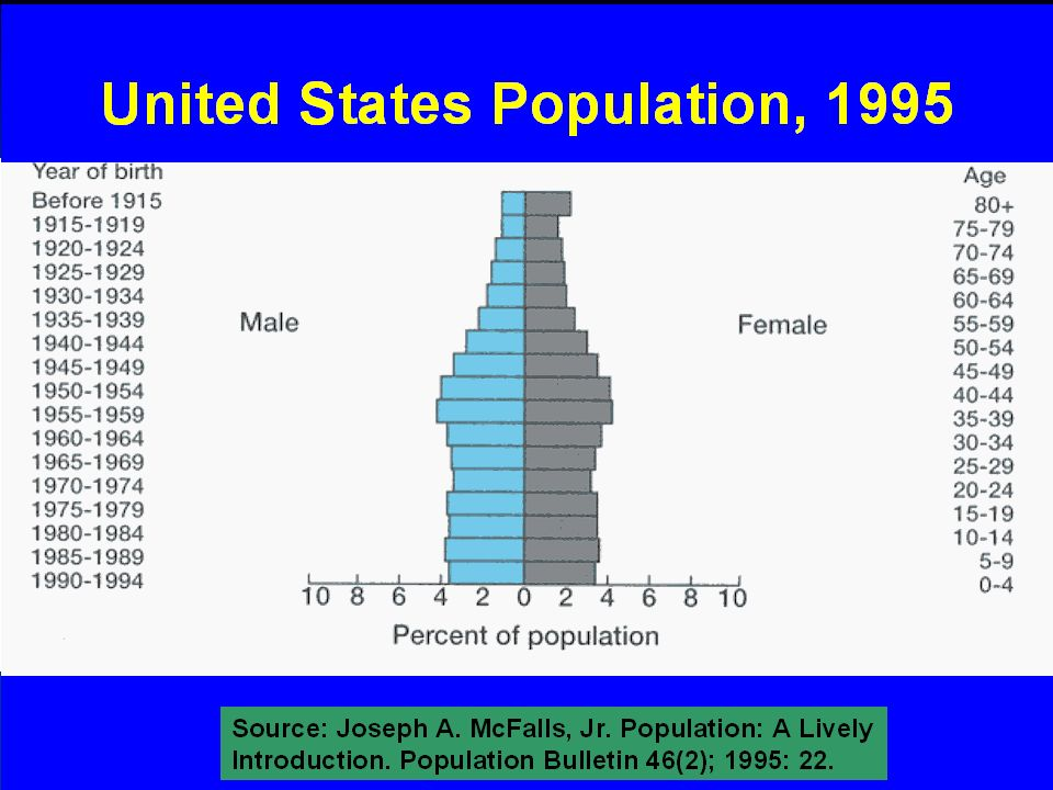 7/11/ Dr. Salwa Tayel United States Population, 1995 Source: Joseph A.