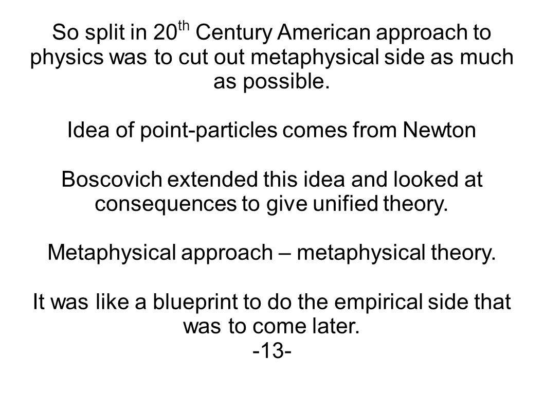 metaphysical approach