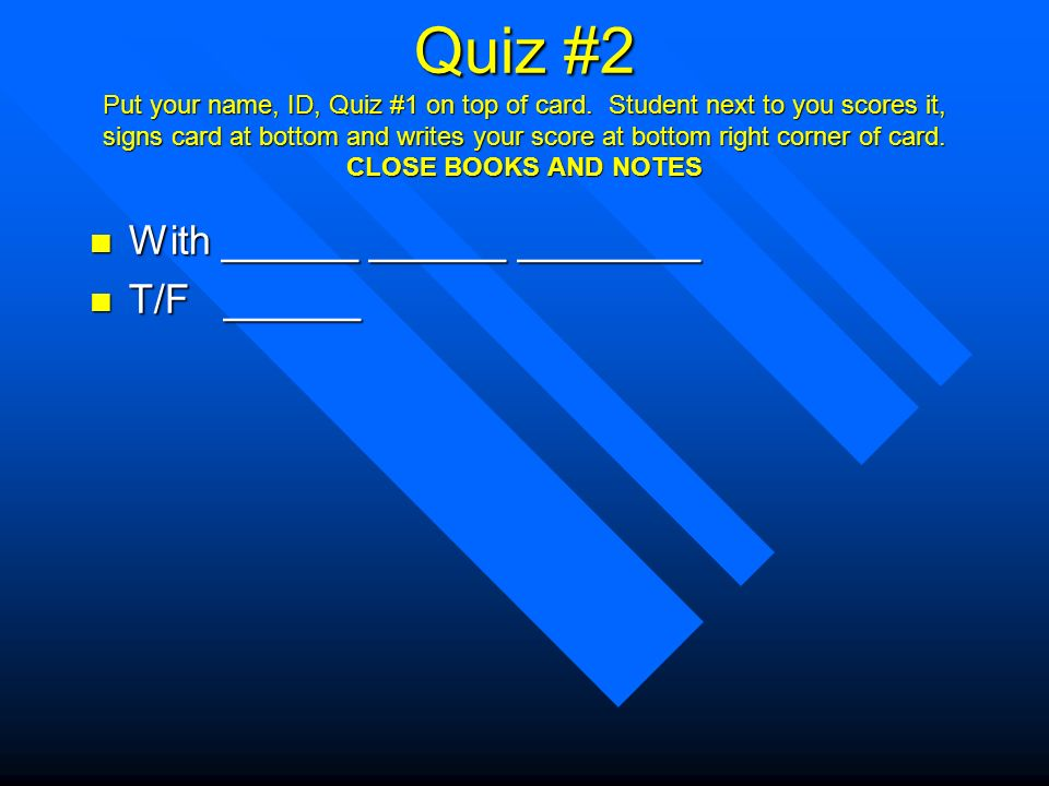 Or quiz top bottom Are You
