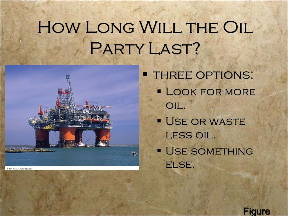 How Long Will the Oil Party Last.  three options:  Look for more oil.