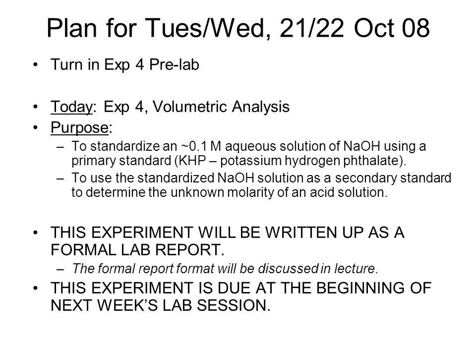 volumetric analysis experiment