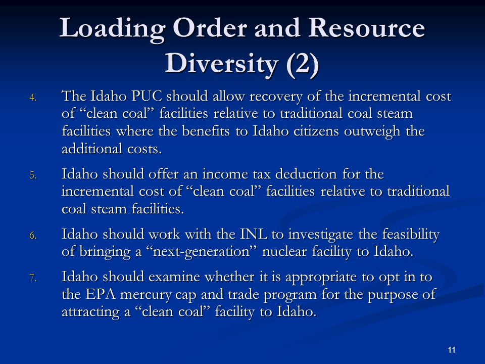 11 Loading Order and Resource Diversity (2) 4.