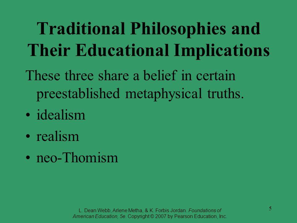 educational implications of metaphysics