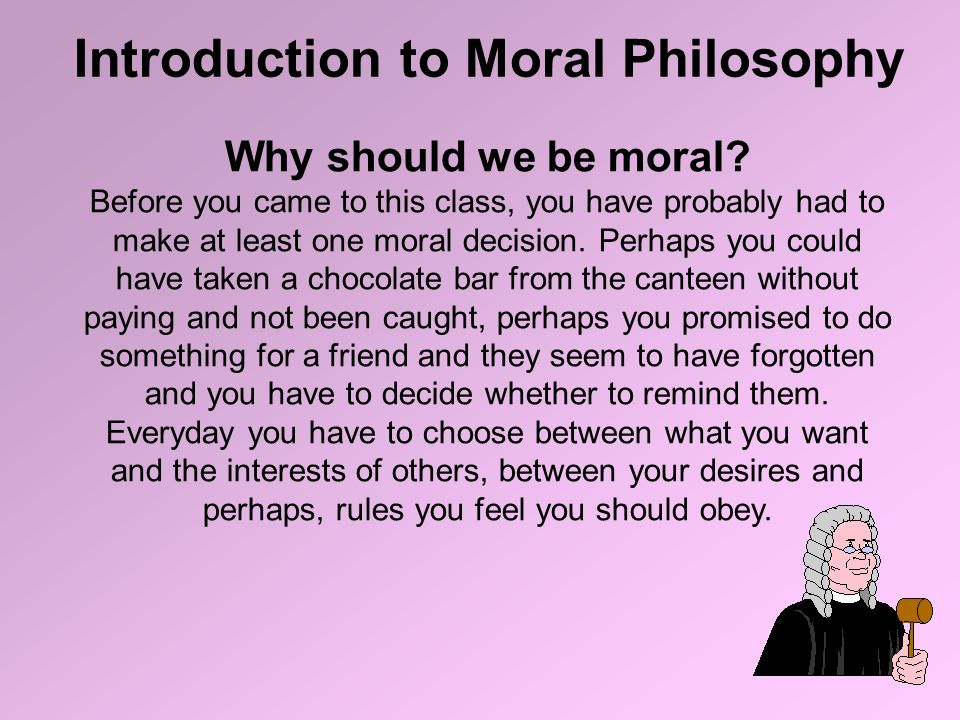why act morally