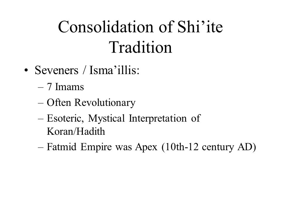 Islam in the Heartlands and Beyond  Consolidation of Sunni