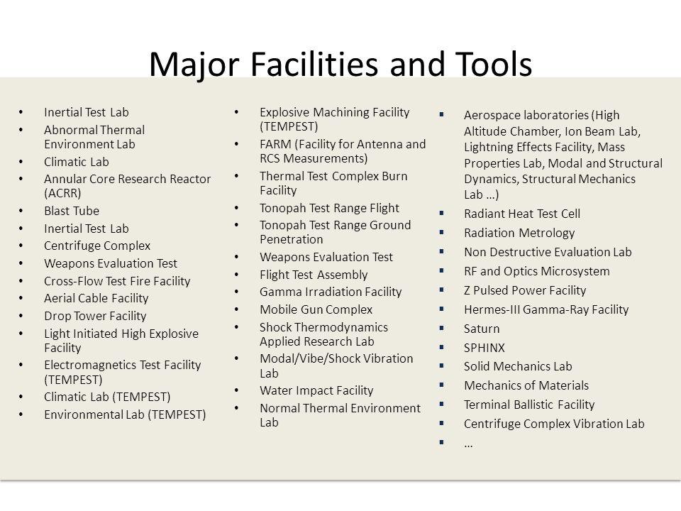 Sandia Field Office Analytical Services Program Workshop 1