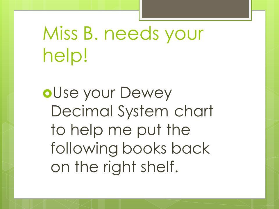 Dewey Decimal System Third And Fourth Grade 2 Miss