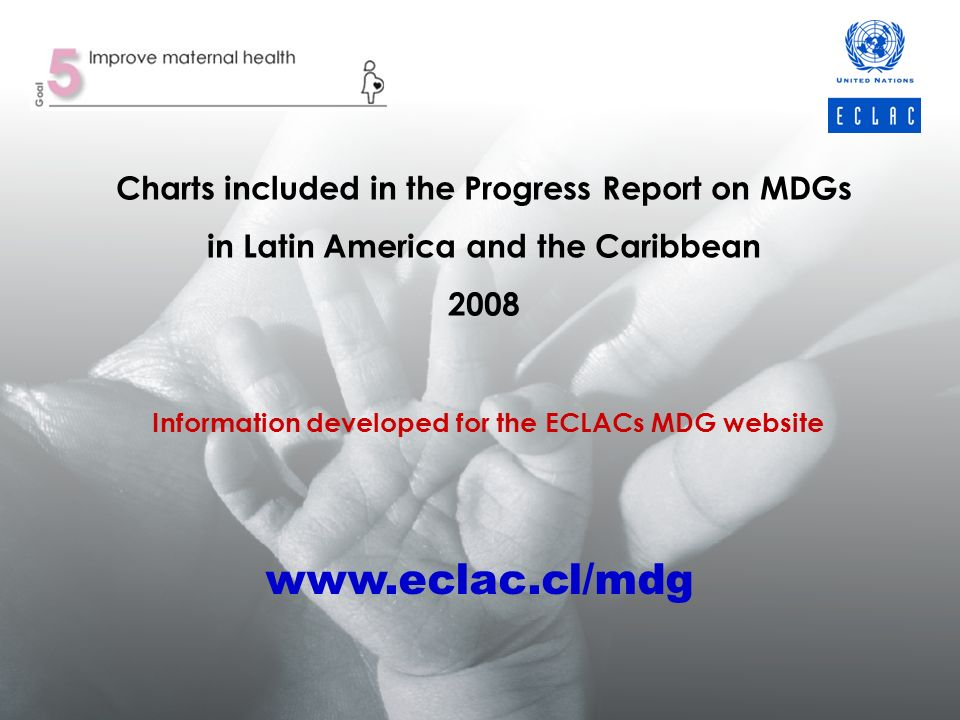 Charts included in the Progress Report on MDGs in Latin America and the Caribbean 2008 Information developed for the ECLACs MDG website