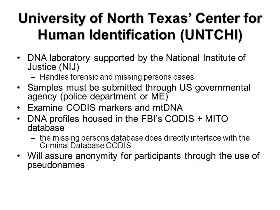 Missing Migrant DNA Database (MMDD) Project Elizabeth Wood