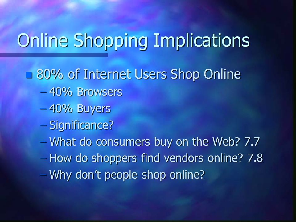 significance of online shopping