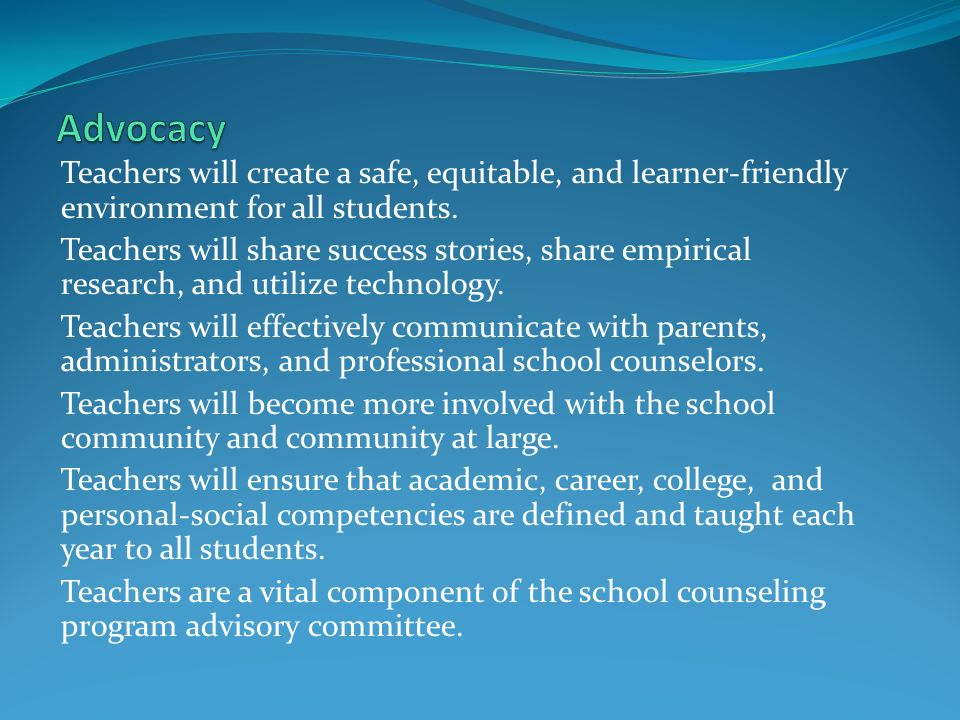 Collaboration between parents and guardians and professional school counselors increases the effectiveness of advocacy.