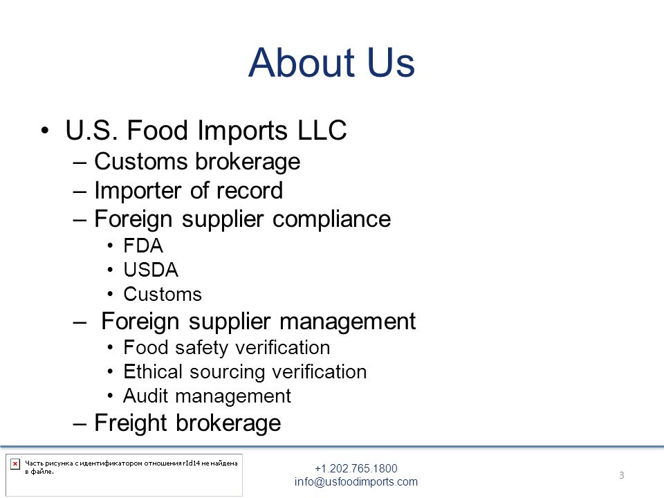 Exporting Food to the United States: What You Need to Know Prepared