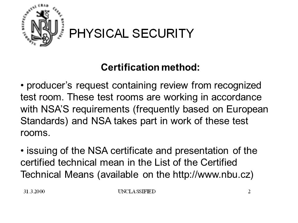 Responsibilities Physical Security Department Basic Domains Of