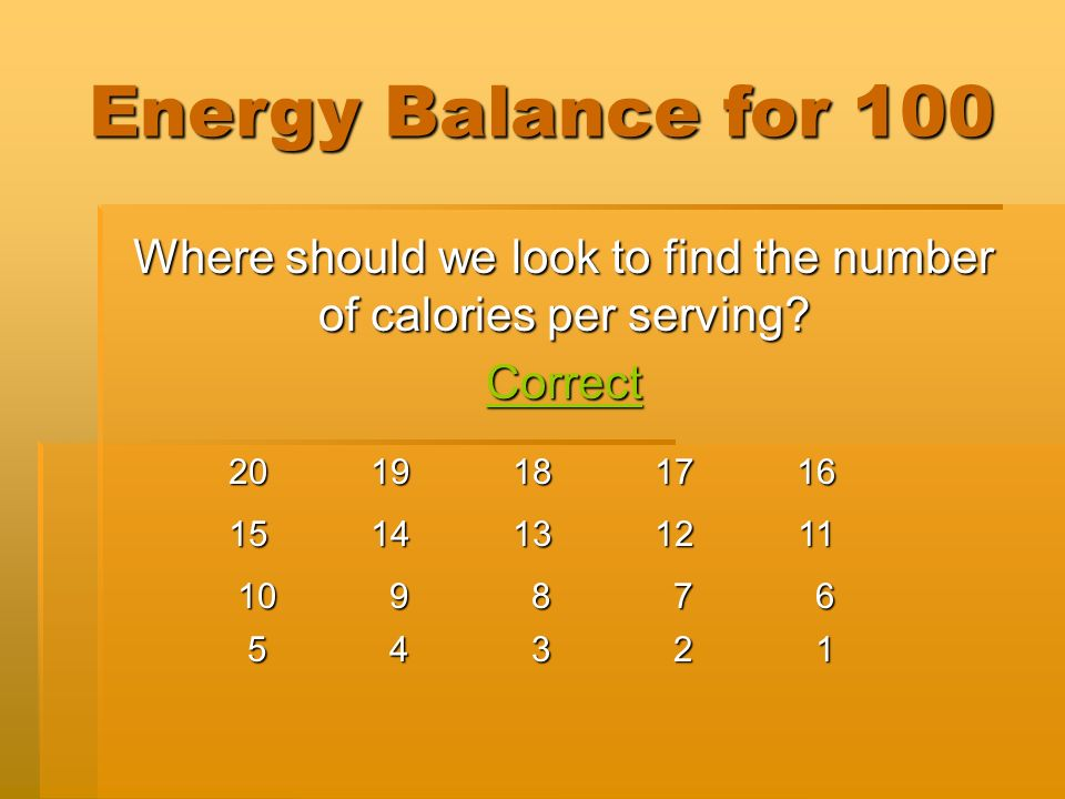 3 Energy Balance DrinksSnacks