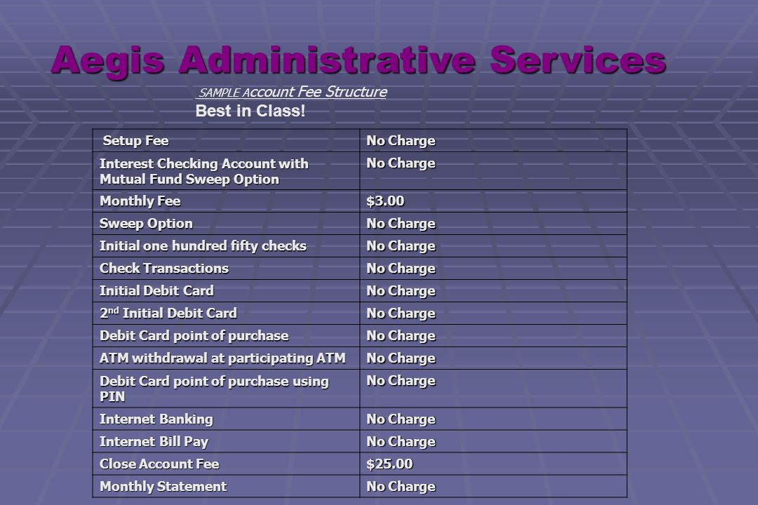 Aegis Administrative Services Inc  HSA's Health Savings Accounts