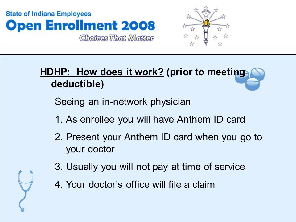 High Deductible Health Plans (HDHP) With a Health Savings