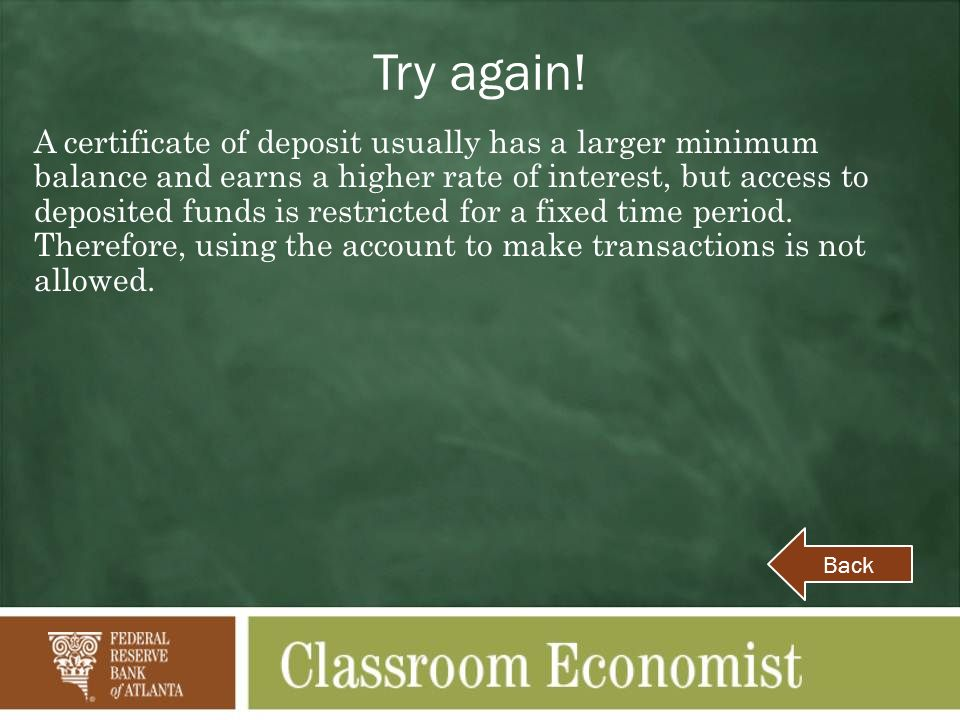 Abc Question 1 A Deposit Account That Offers Easy Access To Your
