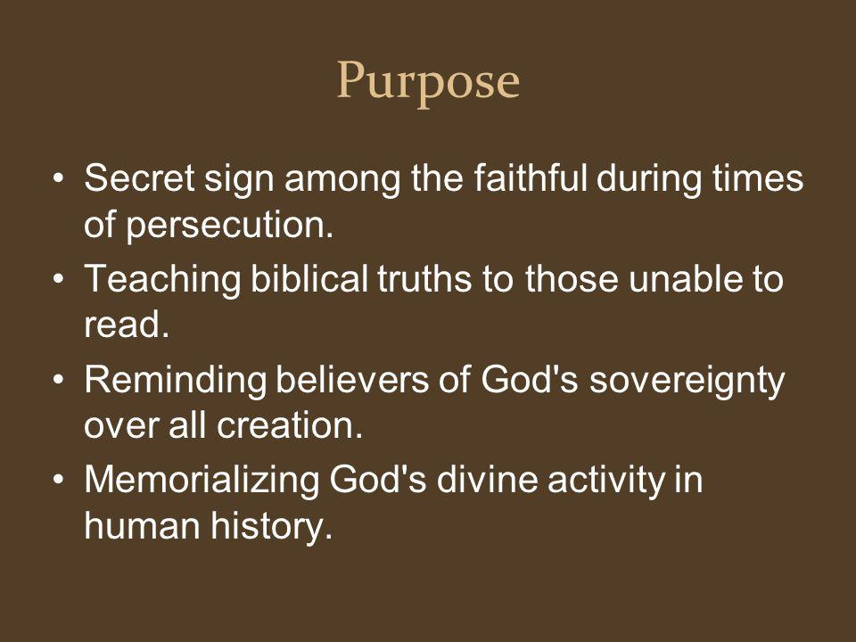 Christianity Symbols Purpose Secret Sign Among The Faithful During