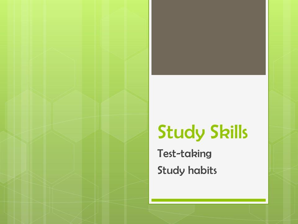 good and bad study habits
