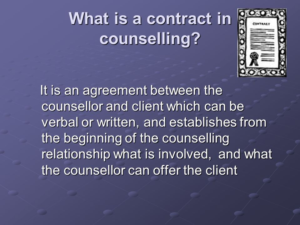 Contracts In Counselling Unit 1 Counselling Ethics And Practice