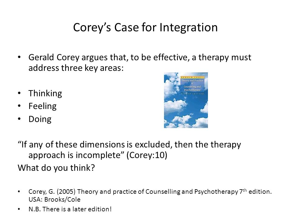 Counselling Skills Level Three Unit Two Week 7 Theories And