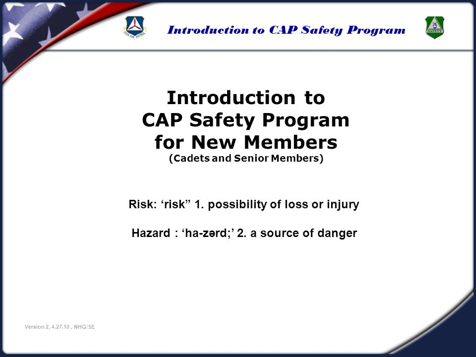 589108015ed Introduction to CAP Safety Program Version 2
