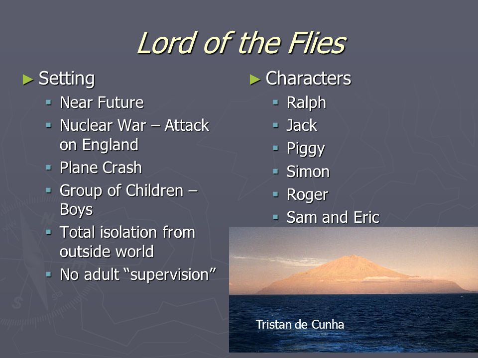 lord of the flies setting and theme
