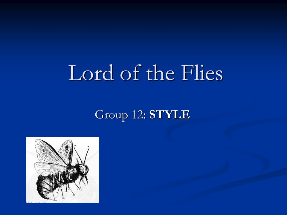 diction in lord of the flies