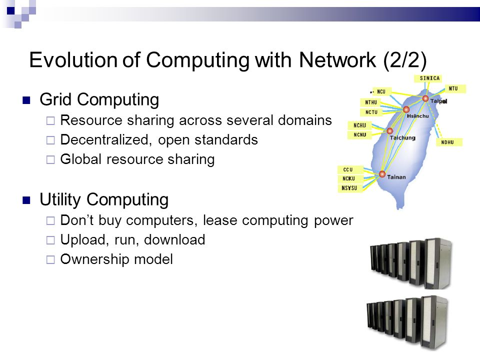 Cloud Computing Evolution Of Computing With Network 1 2 Network