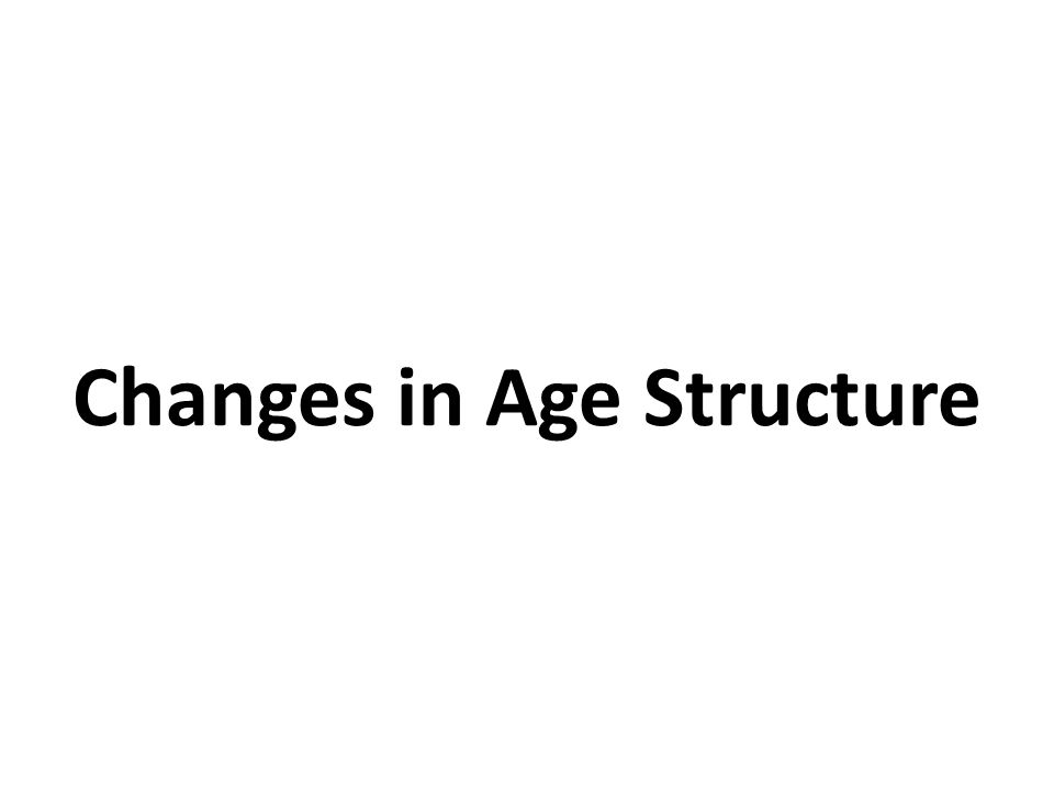 Changes in Age Structure