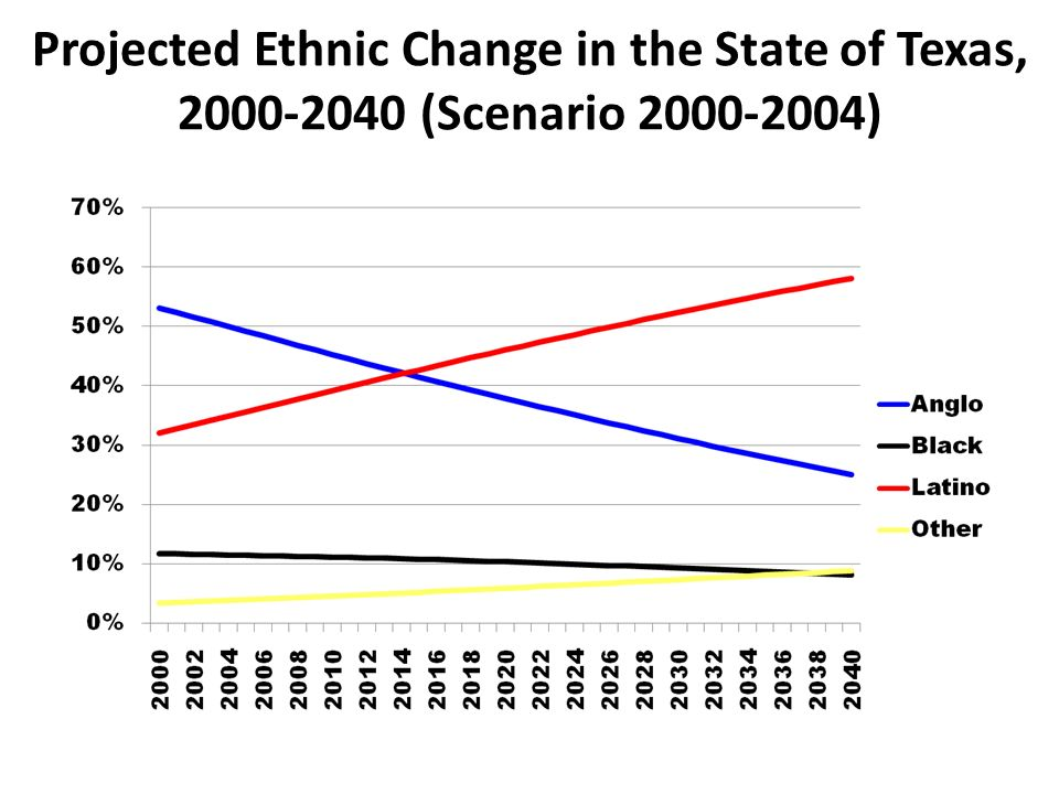Projected Ethnic Change in the State of Texas, (Scenario )