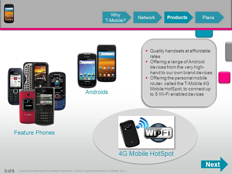 Next T-Mobile Confidential & Proprietary Information - Not for