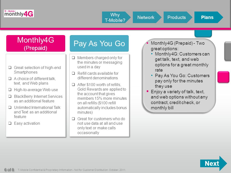 Next T-Mobile Confidential & Proprietary Information - Not