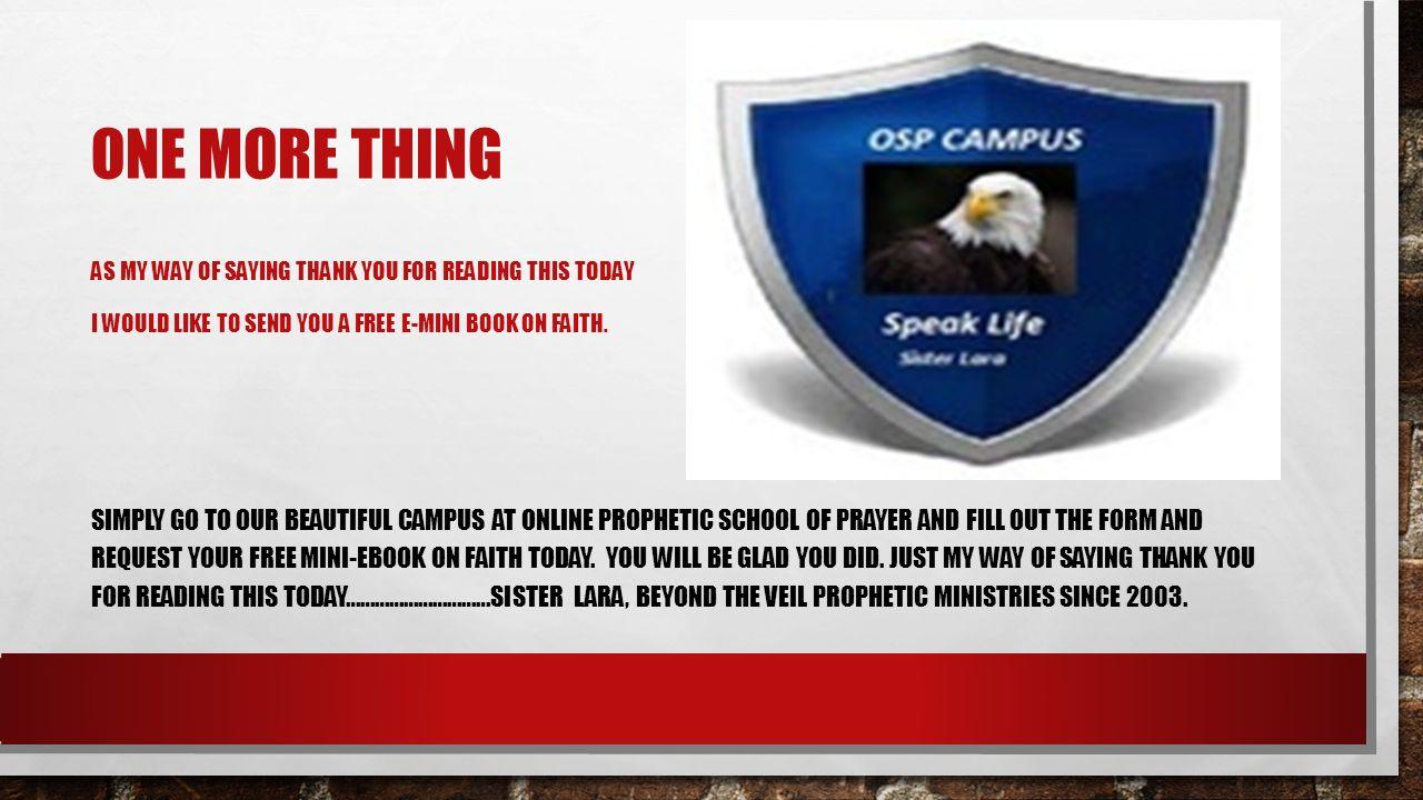 LECTURES ON INTERCESSION BIBLICAL ARTS—INSTRUCTOR SISTER LARA Online