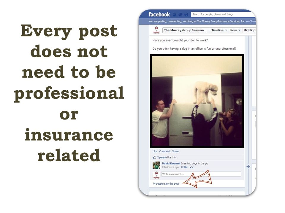 Every post does not need to be professional or insurance related