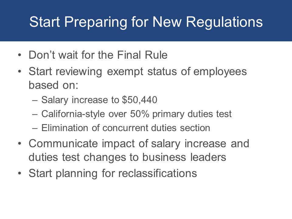 salary exempt status california