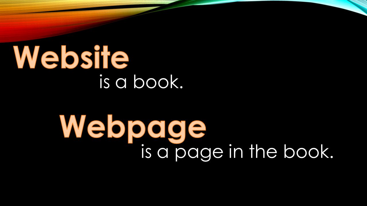 webpage or web page