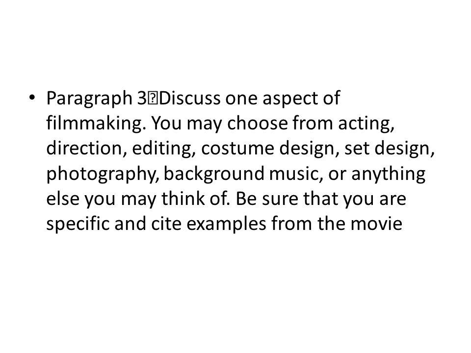 how to write a film critique