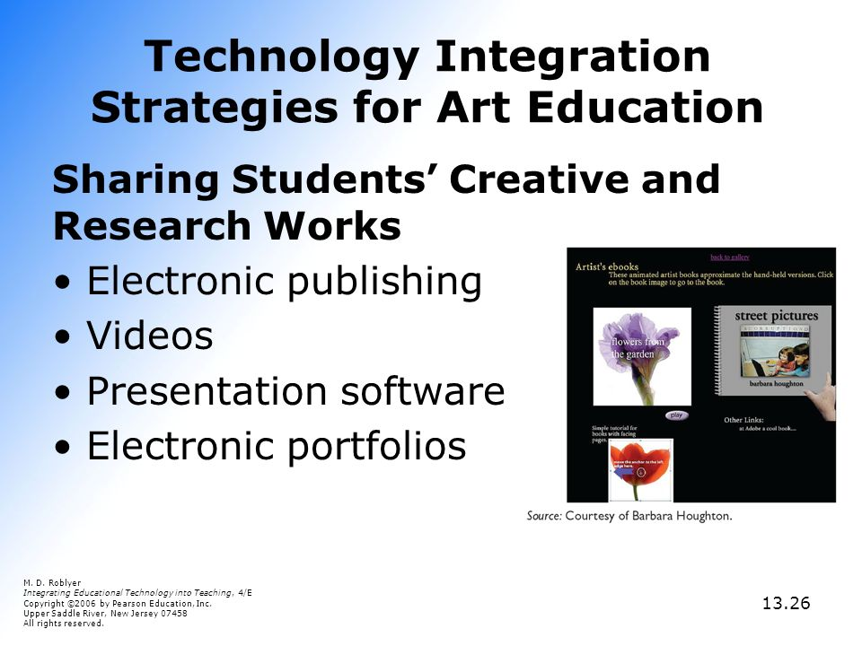 a description of the integration of technology and education Integrating technology into the secondary curriculum is designed to give students hands-on experience with the infusion of educational technology into the secondary curriculum this course focuses on the integration of technology and emerging web applications into social studies curricula.