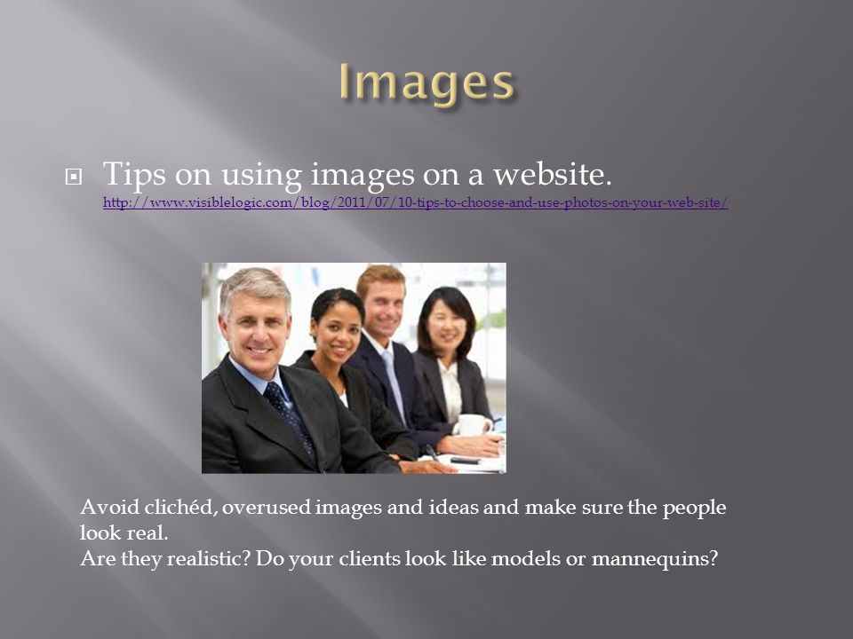  Tips on using images on a website.