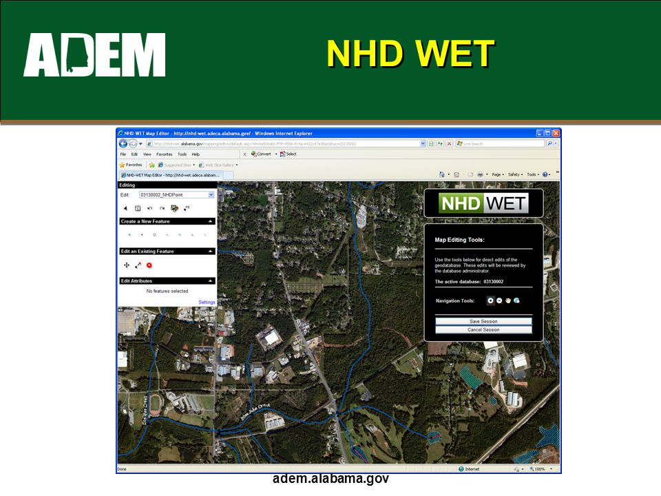 NHD WET adem.alabama.gov