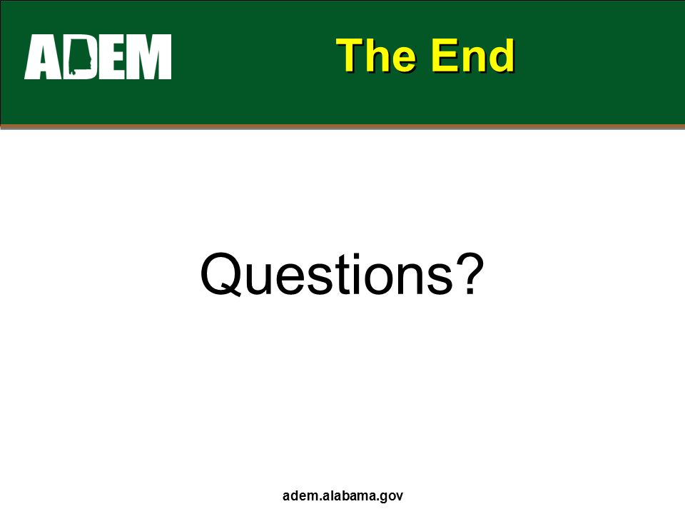 The End Questions adem.alabama.gov