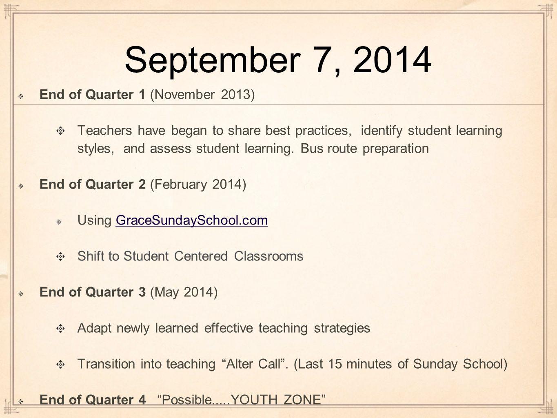Our Vision! GraceSundaySchool com To develop a christian education